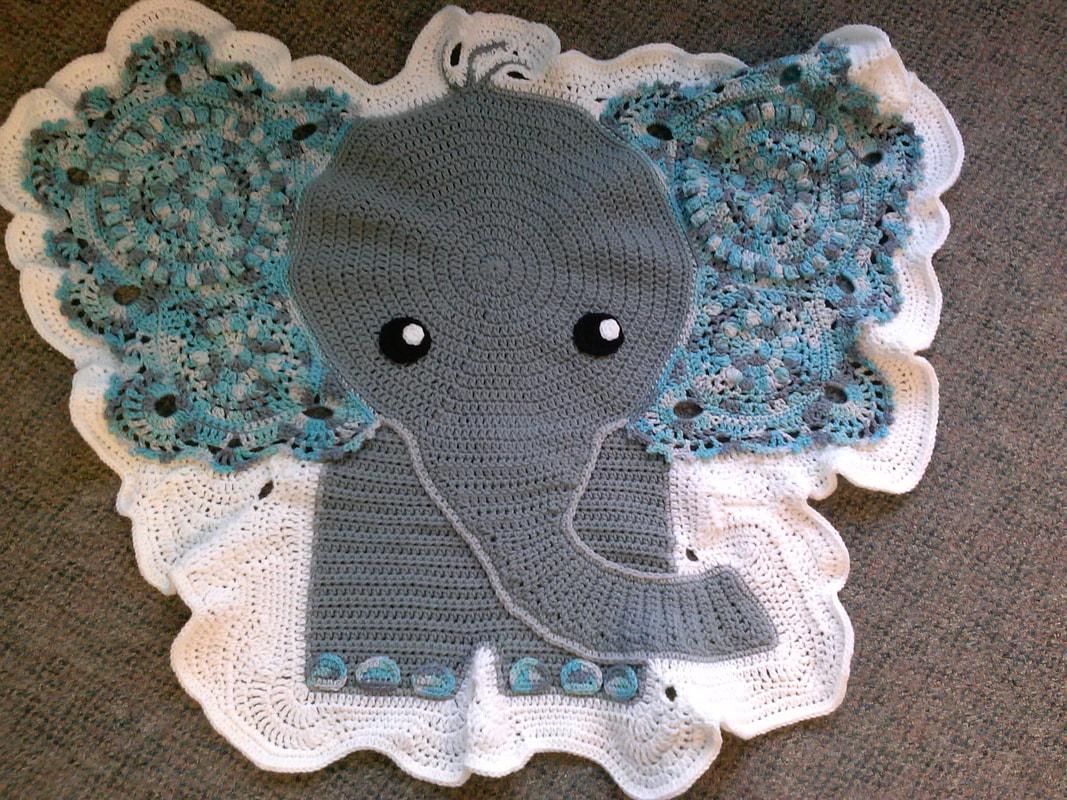 Crochet baby elephant rug   Crochet elephant, Animal rug, Baby rugs   800x1067
